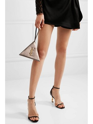Saint Laurent pyramid metallic leather clutch