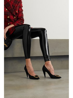Saint Laurent saint-sulpice chain-embellished faille pumps