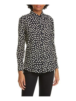 Saint Laurent scatter dot silk crepe de chine shirt