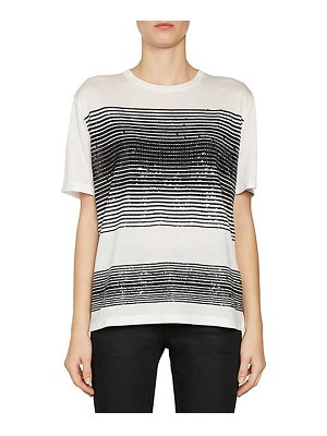 Saint Laurent sequin stripe jersey t-shirt