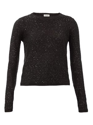 Saint Laurent sequinned knit sweater