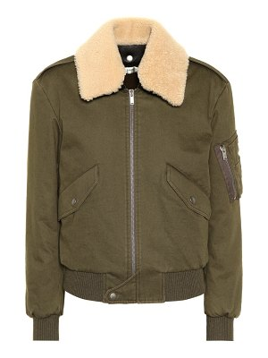 Saint Laurent Shearling-trimmed bomber jacket