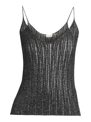 Saint Laurent sheer lurex tank
