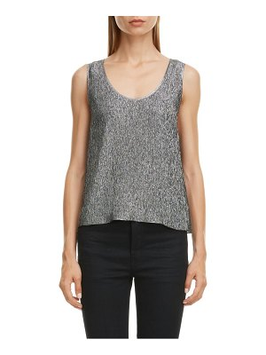Saint Laurent silk blend lame tank