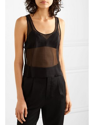 Saint Laurent silk-mousseline tank