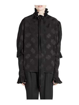 Saint Laurent silk ruffle collar blouse