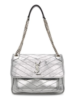 Saint Laurent silver medium niki bag