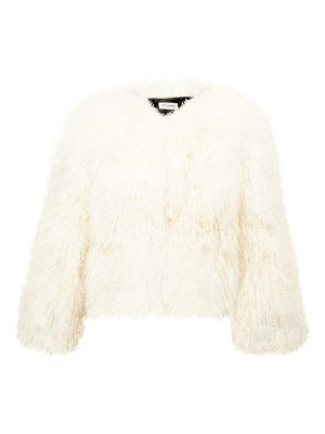 Saint Laurent single-breasted curly-shearling jacket
