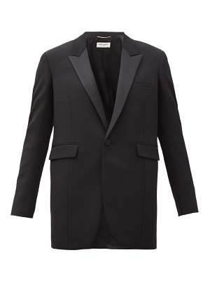 Saint Laurent single-breasted wool grain-de-poudre jacket