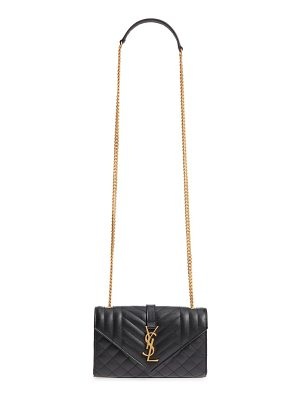 Saint Laurent small cassandra leather shoulder bag