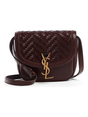 Saint Laurent small kaia woven leather crossbody bag