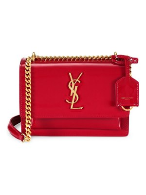 Saint Laurent small sunset patent leather shoulder bag