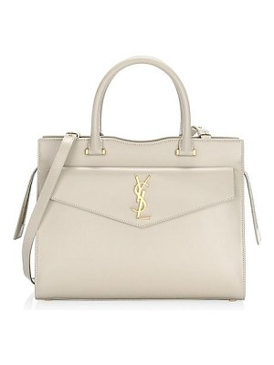 Saint Laurent small uptown cabas leather top handle bag