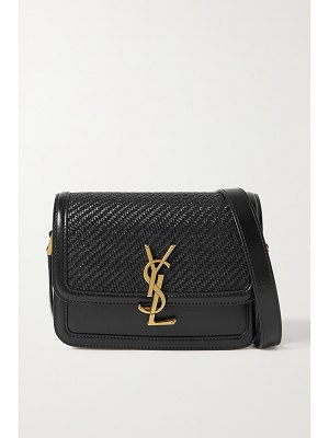 Saint Laurent solferino small woven leather shoulder bag