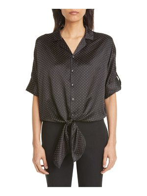 Saint Laurent studded silk camp shirt