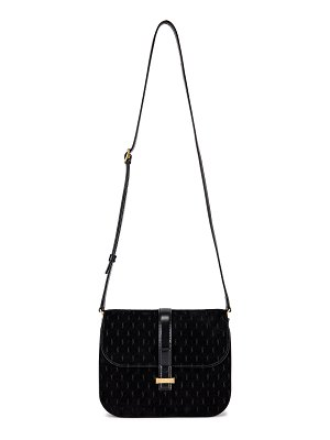 Saint Laurent Suede Monogramme Small Satchel Bag