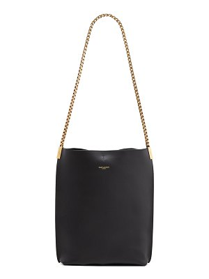 Saint Laurent Suzanne Small Leather Hobo Bag