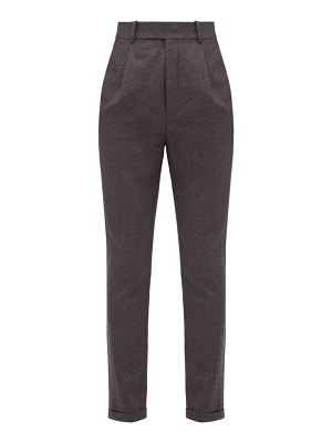 Saint Laurent tailored wool flannel trousers