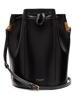 Saint Laurent talitha smooth leather bucket bag