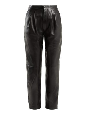 Saint Laurent Tapered leather trousers