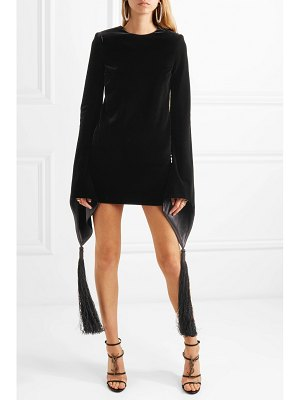 Saint Laurent tasseled velvet mini dress