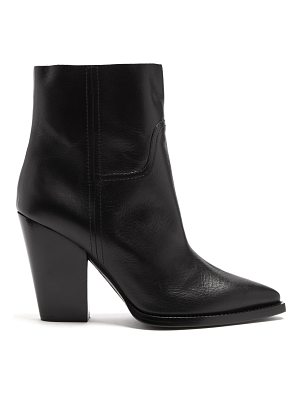 Saint Laurent Theo leather ankle boots