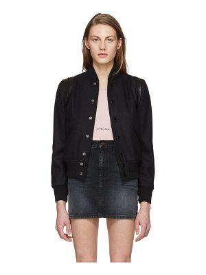 Saint Laurent Tonal Teddy Bomber Jacket
