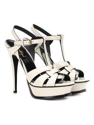 Saint Laurent Tribute 105 patent leather sandals