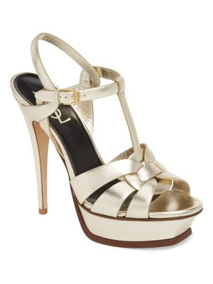 Saint Laurent tribute metallic platform sandal