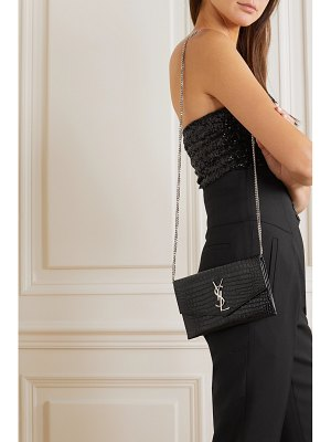 Saint Laurent uptown croc-effect leather shoulder bag