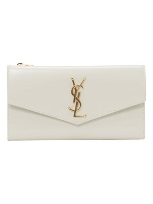 Saint Laurent uptown leather clutch