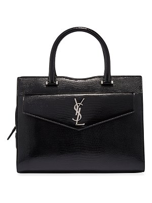 Saint Laurent Uptown Medium YSL Lizard-Embossed Satchel Bag