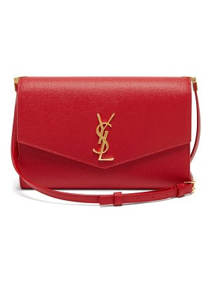 Saint Laurent uptown mini grained-leather cross-body bag