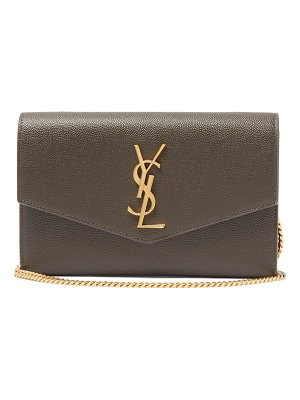 Saint Laurent uptown mini ysl grained-leather cross-body bag