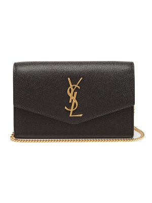 Saint Laurent uptown pebbled-leather cross-body bag