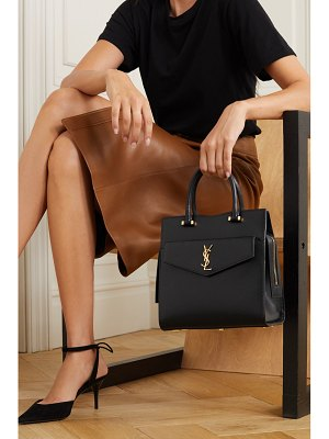 Saint Laurent uptown small textured-leather tote