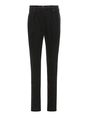 Saint Laurent velvet high-waisted trousers