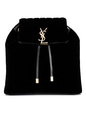 Saint Laurent velvet monogramme vicky backpack