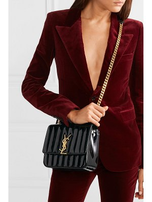 Saint Laurent vicky medium quilted patent-leather shoulder bag