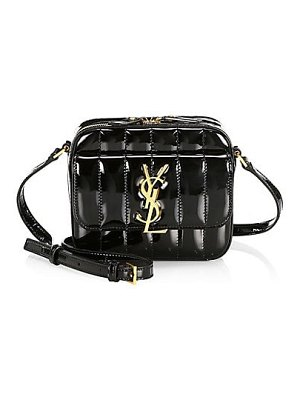 Saint Laurent vicky patent leather camera bag