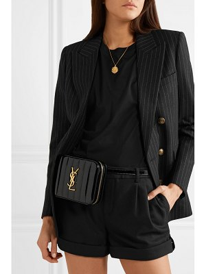 Saint Laurent vicky quilted patent-leather belt bag