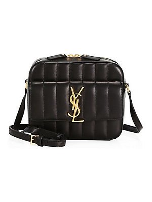 Saint Laurent vicky matelassé leather camera bag