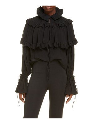 Saint Laurent washed silk georgette blouse