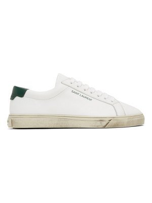 Saint Laurent white and green andy sneakers