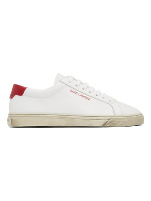 Saint Laurent white and red andy sneakers