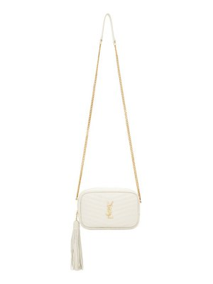 Saint Laurent white mini lou bag