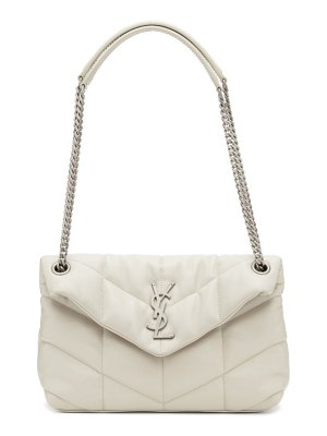 Saint Laurent white small puffer loulou bag