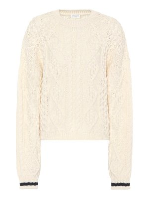 Saint Laurent wool cable-knit sweater
