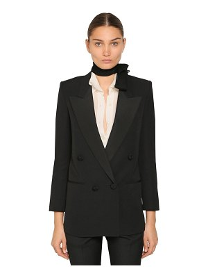 Saint Laurent Wool gabardine blazer