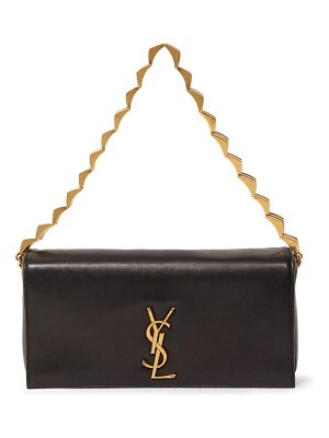 Saint Laurent ysl-plaque leather shoulder bag